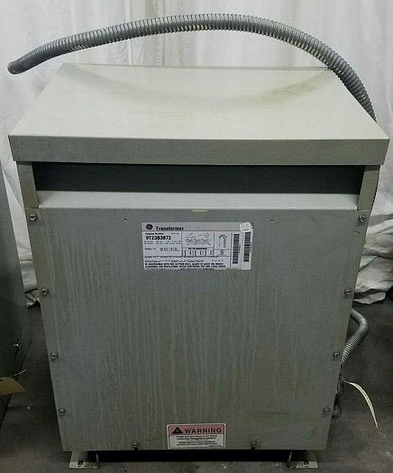 Used GE Transformer 30 KVA 480V Primary 208 V Secondary 3 Phase Tested!