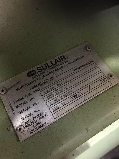 SULLAIR 40HP COMPRESSOR, WATER COOLED