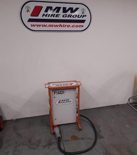 Used Site Distribution Boards 63A 3 Phase Input with Single Phase 32A and 16A Sockets