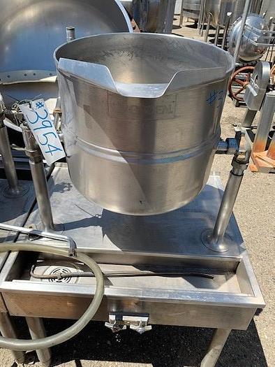 Used 40 gallon Groen Stainless Steel Jacketed Tilt Steam Kettle