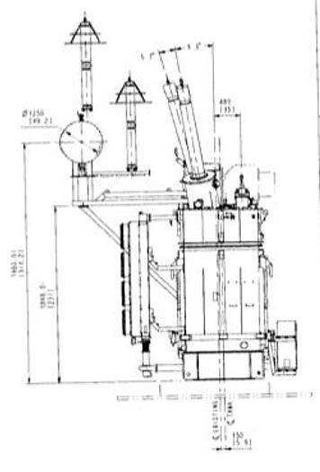 975 MVA GSU Shell Type Transformer