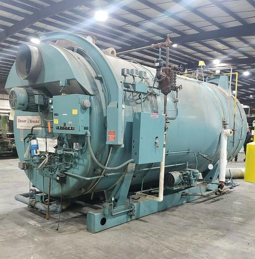 Used 2000 Cleaver Brooks CB200-500-200 Steam Boiler 500 HP 200 PSI Natural Gas / Oil