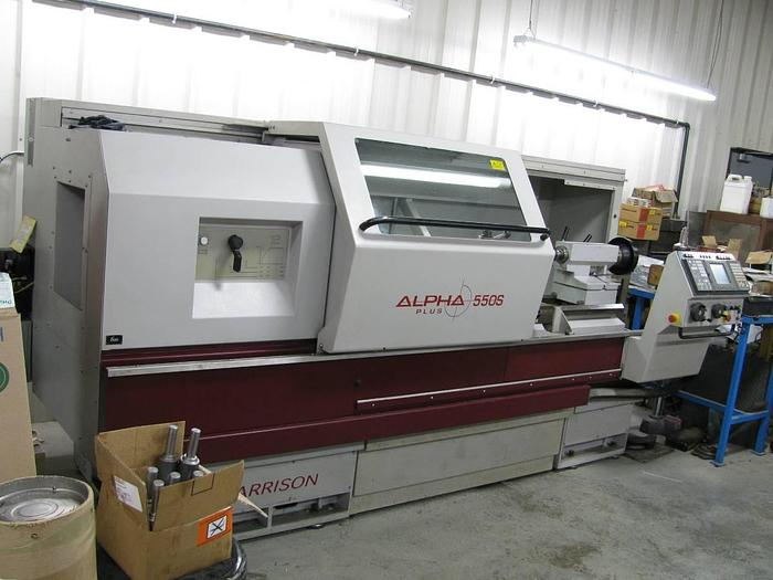 Used CNC Lathe (Harrison Alpha 550S) Year 2000 Harrison 550/Serial No. S50110