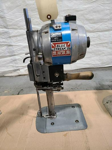 Used Eastman Blue Strike II Class 629 Fabric Straight Cutting Machine