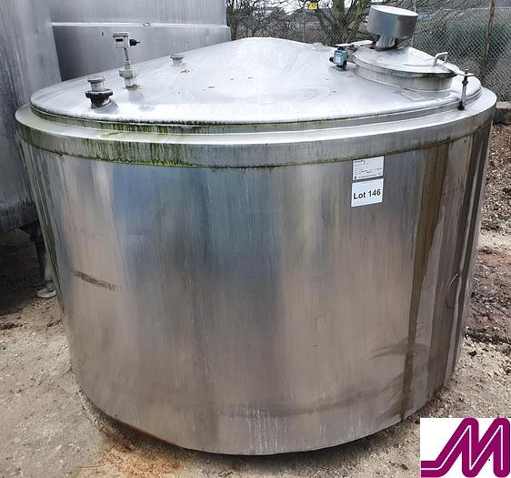 Used 6,000 Litre Stainless Steel Vertical Cylindrical Insulated Tank