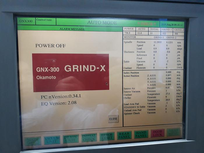 Okamoto GNX-300 Fully Automatic Wafer Back Grinder