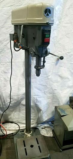 Used Delta Rockwell Drill Press Metal and Wood has cracked bracket to hold table up