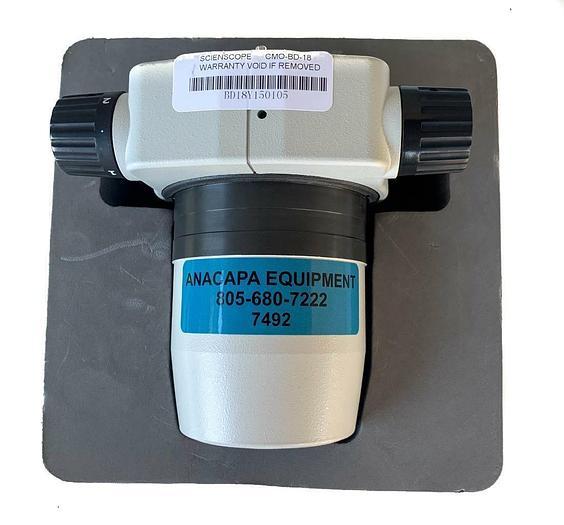 Used Scienscope Microscope CMO-BD-18 Zoom Body, 0.8x - 6.4x Zoom USED (7492) W