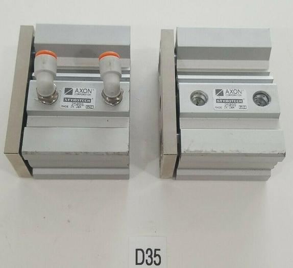 Used *PREOWNED* LOT OF 2 AXON STYROTECH 25099 Pnuematic Compact Cylinder + Warranty!