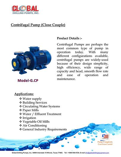Centrifugal Pump (Close Couple)