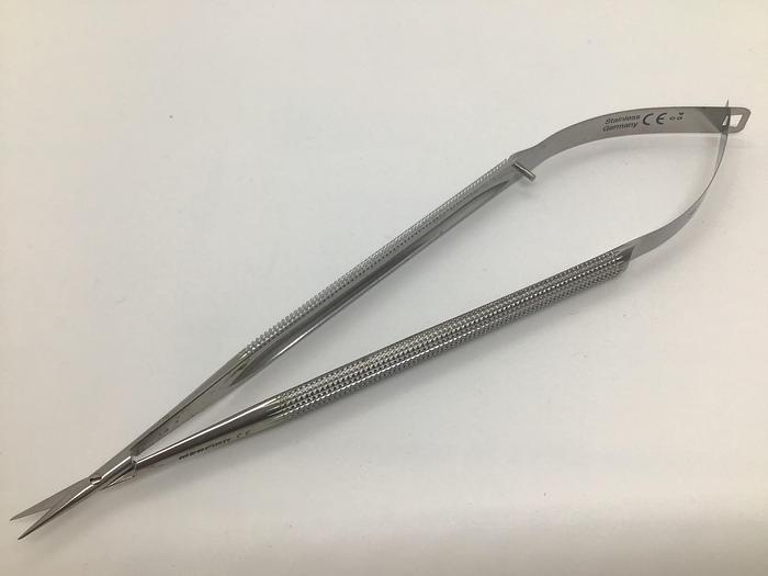 Used Scissor Micro Spring Type Adventitia 8mm by 11mm Blades with Round Handle 170mm (6-3/4in) MERCIAN SAS-18 R-8