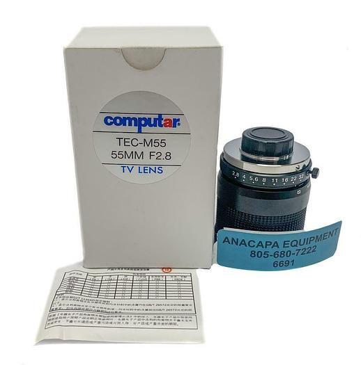 Used Computar TEC-M55, 55MM F2.8 TV Telecentric Lens New In Box (6691) W