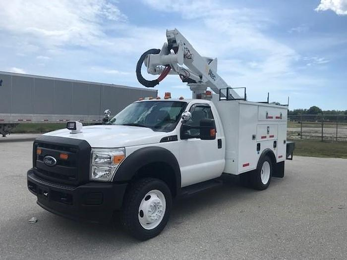 Used Altec AT37G 42ft Articulating Telescopic Bucket Boom on 2014 Ford F550 Reg Cab 4x4 - C37699