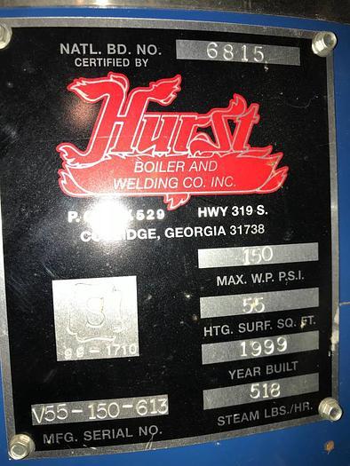 Hurst High Pressure Boiler 15 HP like new!