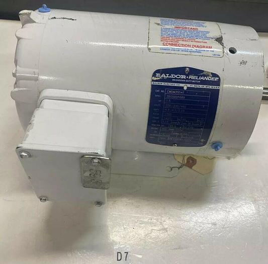 Used Baldor Cwdm3554T 1 1/2 Hp Ac Motor 208-230/460 Volts, 1725 Rpm, 3ph 145Tc Frame
