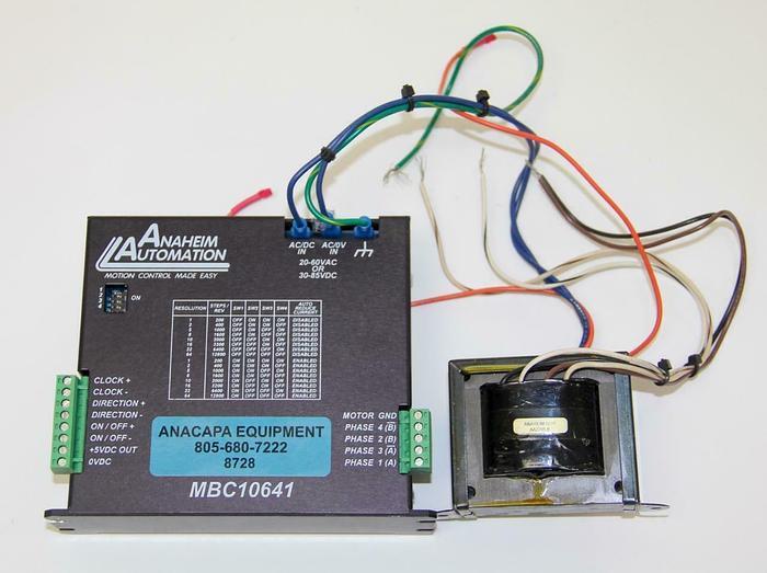 Used Anaheim Automation MBC10641 Motor Stepper Driver W/ AA2295 B Transformer (8728)W