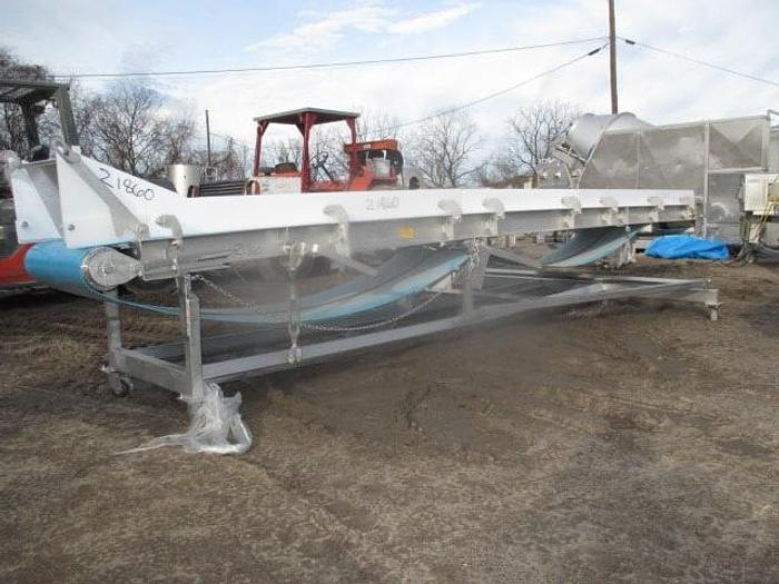 """Used Weiler Incline Conveyor; Md#24BC; 20""""x20'"""