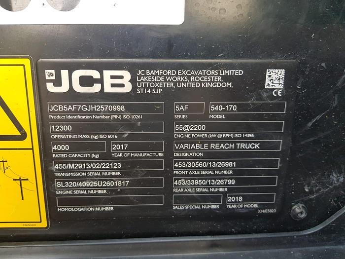 2017 JCB 540-170