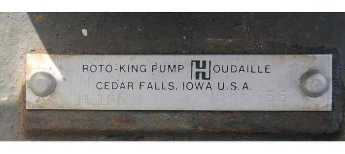 """USED GEAR PUMP, 1.75"""" X 1.75"""" INLET & OUTLET, CAST IRON"""