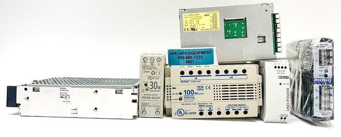 Used Volgen SP30U-0533T, Rhino PSB24-060-P, Power Supplies Mixed Lot of 6 (8867)W
