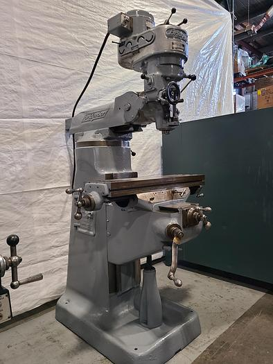 "Used Bridgeport 1HP Milling Machine 32"" Table Mill Miller"