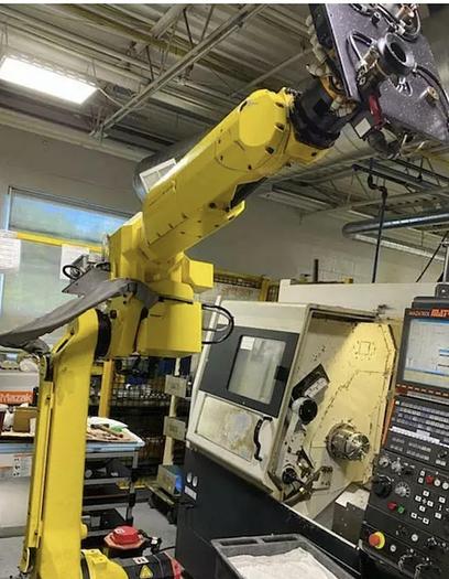Used FANUC M-20iA 6 axis robot with R-30iA controls