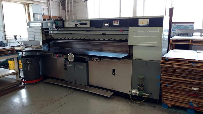 "Used 112"" HARRIS SEYBOLD GUILLOTINE CUTTER"