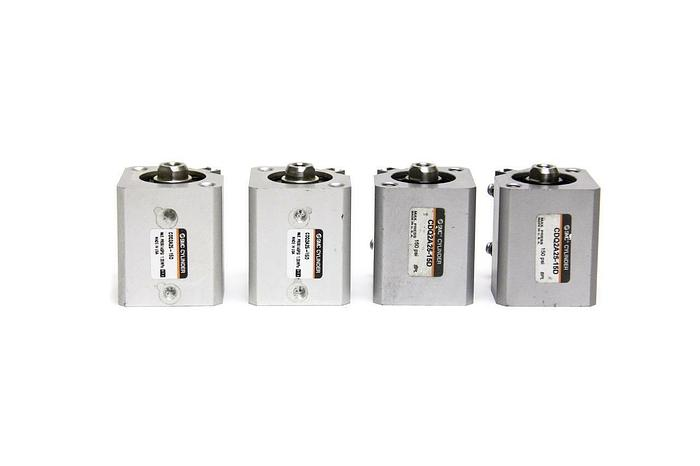 Used SMC CDQ2A25-15D CQ2 Compact Cylinder 25mm Bore 14mm Stroke Lot of 4 New  (2949
