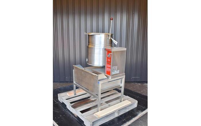 USED 10 GALLON TANK (KETTLE), STAINLESS STEEL, VULCAN VEC-10TW