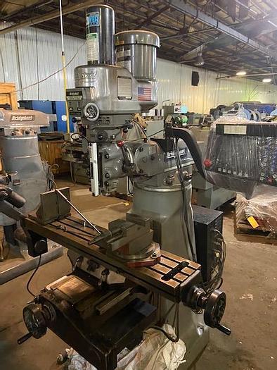 "Used Bridgeport Mill   Series 1   CNC 2 Axis   9 x 48""  Acu Rite"