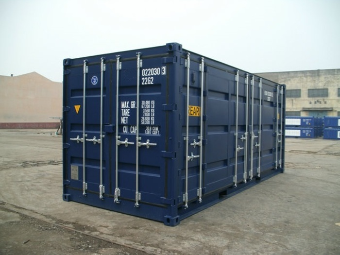 "20 'Container 9'6 ""Both sides open"