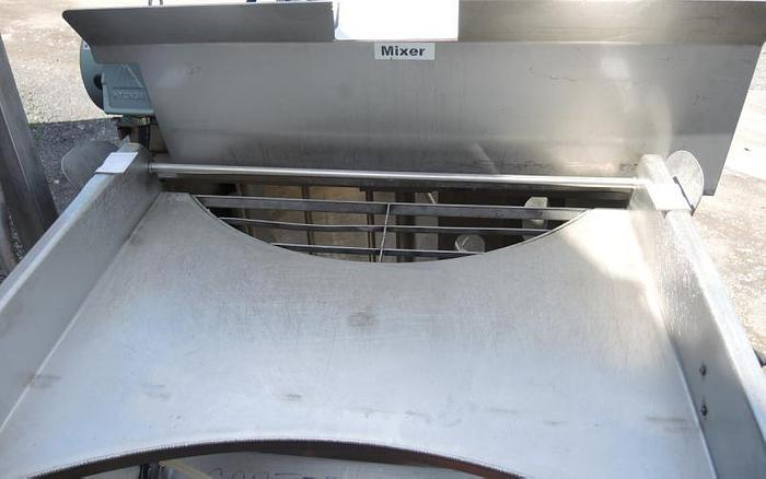 USED 125 GALLON JACKETED KETTLE, STAINLESS STEEL, WITH SCRAPE AGITATION