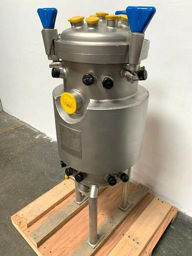 Used Precision 50 Liter Stainless Steel Jacketed Reactor - Bare Tank Only
