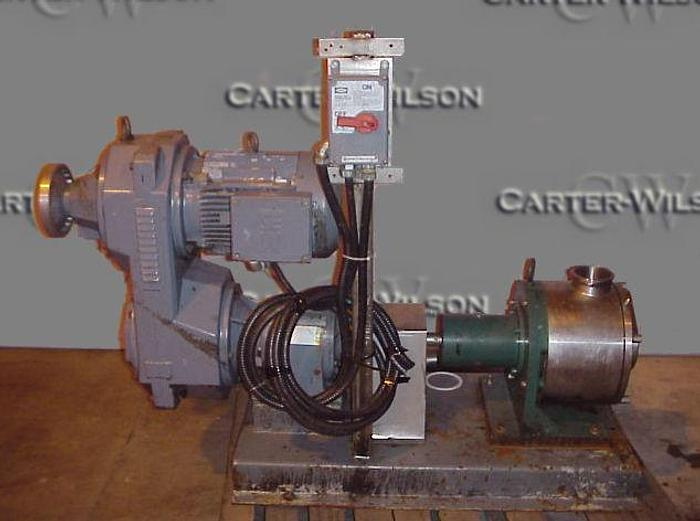 USED SINE POSITIVE DISPLACEMENT PUMP, MODEL SPS 050, STAINLESS STEEL