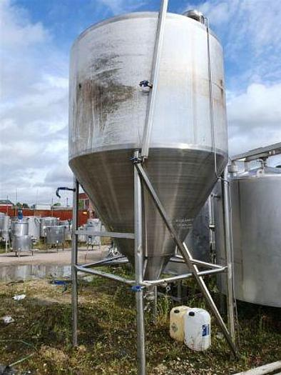 Used 6,000 Litre Stainless Steel Conical Based Tank