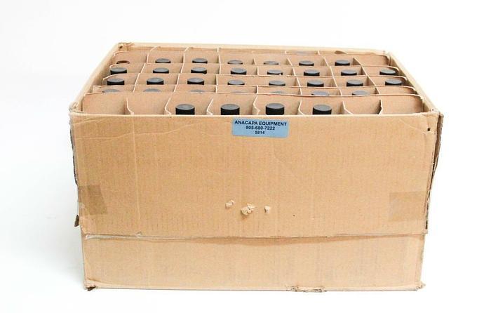 Qorpak GLC-10236 8oz Amber Glass Bottles w/ Black Poly Caps Lot of 85 NEW (5814)