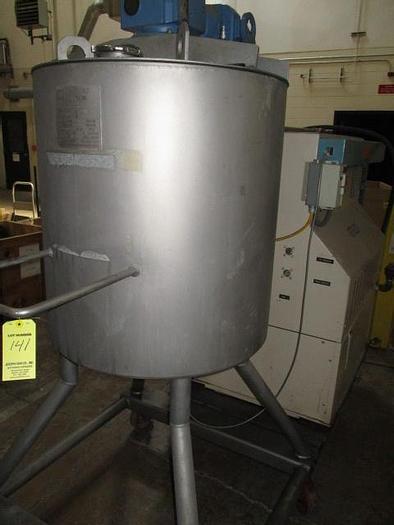 Used Walker 40 gallon 304 stainless steel flat bottom tank