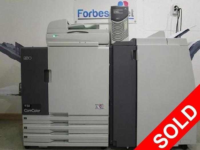 Riso ComColor 9150 X1 Full Color Inkjet Printer with Scanner, IS950C RIP Print Controller and Booklet Maker Finisher