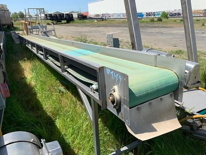 "Used 29' Long x 18"" Wide Incline Conveyor"