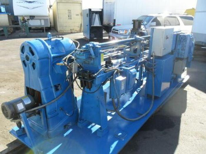 SHUSTER METTLER IAV33.155.60 WIRE/TUBE STRAIGHTENER AND CUTOFF MACH W IBP SWAGER