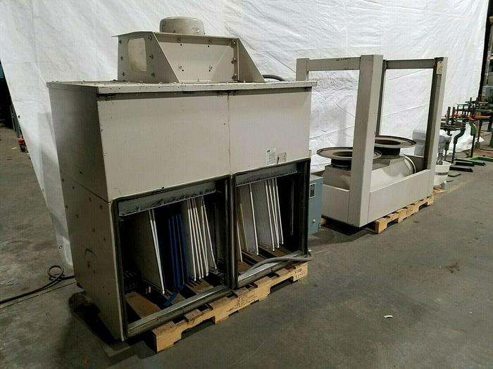 Used AAF 7-1/2 HP Dust Collector System 3500 CFM Vacuum Air Filtration