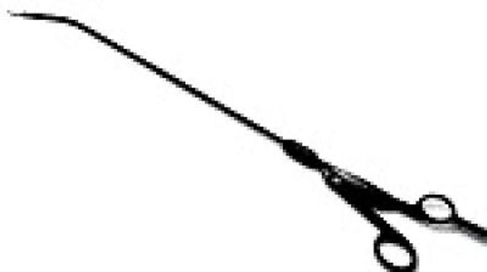 Used Scissor Endoscopy Micro Metzenbaum 5/310mm with Handle AESCULAP PM009R