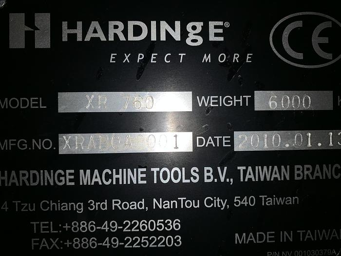 "HARDINGE XR760 VMC PRODUCTION CENTER 30""X24""X24"""