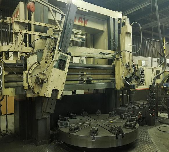 "Used 1969 84"" Gray Vertical Boring Mill, 96"" Swing, 72"" Under Rail, 193rpm, 50 hp, ID17015"