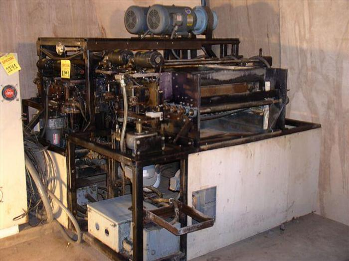 "Used 24"" MSC Model SSC24-4 Flat Part Deburring System; 4 Head; Dbl. Sided; Wheel / Brush; Wet; Mint; 1984"