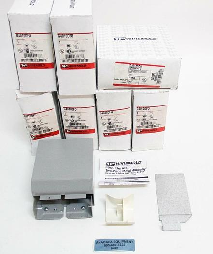 Wiremold G4010DF0 Entrance End Fitting FiberReady Raceway Gray NEW LOT OF 7 6492