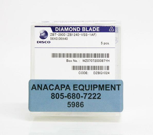 Used Disco Diamond Blade ZBT-2900 ZB1240-VSS-1AF 56x0.06x40 LOT of 3 (5986)