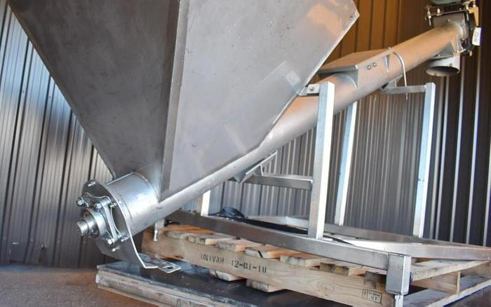USED SCREW CONVEYOR, 6'' DIAMETER X 108'' LONG, STAINLESS STEEL