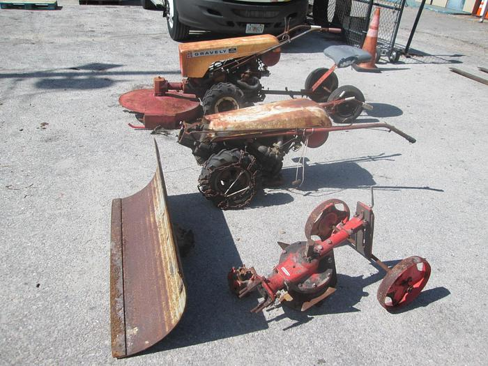Used Vintage Gravely Walk/Ride Behinds With Attachments