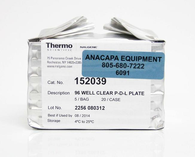 Thermo Scientific Nalgene 152039 96 Well Clear P-D-L Plate LOT OF 5 NEW (6091)